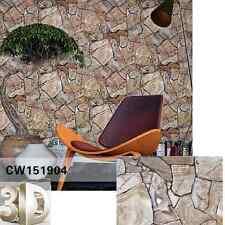 Rustic Mosaic Stone Slate Grey Brown Beige Realistic Impressions Wallpaper 10M