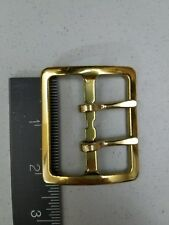 """NOS-ANTIQUE-VTG/2""""DOUBLE PRONG BRASS BELT BUCKLE;Sam Browne/Military(WW?)/Police"""