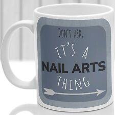 Arte en uñas cosa taza, ideal para cualquier artista de uñas (azul)