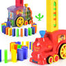 Domino Rally Electronic Train Model Kids Colorful Toy Set With Sound Toys Gift