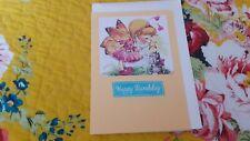 HANDMADE CARDS BIRTHDAY FAIRY & KITTEN HAPPY BIRTHDAY