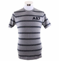 Aeropostale Men Short Sleeve Striped Graphic A87 T-Shirt Style 5287 $0 Free Ship