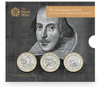 2016 The Shakespeare UK 2 Pound Three Coin Set
