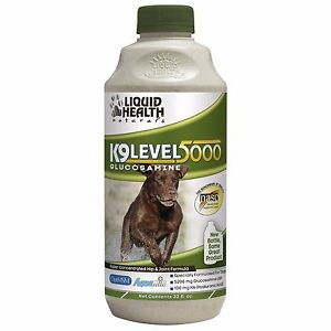 Liquid Health Dogs K9 Level 5000 - Glucosamine - Chondroitin Opti-MSM 32 oz New