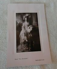 VICTORIAN EMBOSSED POST CARD HONORABLE MRS. GRAHAM UNCIRCULATED