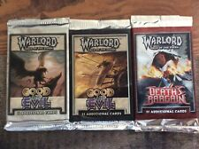 Warlord Saga Of The Storm CCG 3 Booster Packs G&E DB