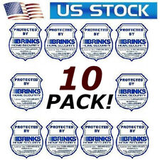 Stickers decals for home windows stores BRINKS security alarm monitoring systems