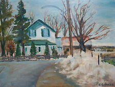 E. SIMCOE - Vintage Oil Painting on Panel - Unframed - Canada - Mid 20th Century