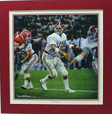 1985 MIKE SHULA ALABAMA CRIMSON TIDE FOOTBALL DANIEL A. MOORE PRINT