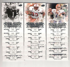 (20) 2011 UD COLLEGE FOOTBALL LEGENDS BOWL GAME HEROES  INSERT CARD LOT