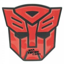 Transformers Autobot Symbol Red Belt Buckle