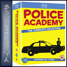 POLICE ACADEMY -THE COMPLETE COLLECTION  1 2 3 4 5 6 & 7 **NEW BLU-RAY BOXSET **