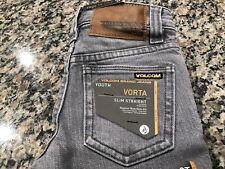 NWT Volcom Stone Jeans 2T Gray Vorta Slim Straight $55