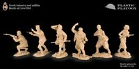 Plastic Platoon Toy Soldier Greek Infantry and militia. Battle of Crete  54mm