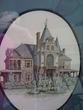 "Debbie Patrick Hand Watercolored Victorian Houset ""Beringer Vineyards signed"