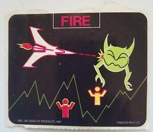 Galaga Defender Video Game Sticker Peter Hirschberg 1982 USA JBJ PR
