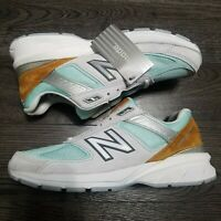 NEW BALANCE 990 V5 Kawhi Leonard Running shoes Mens 9.5 Grey Gold Mint M990BB25