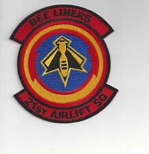 PATCH USAF 21ST AIRLIFT SQ  AS C-5 GALAXY BEE LINERS TWO TAB