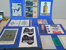 LOTTO DISEGNI ORIGINALI AUTORE SCONOSCIUTO PUBBLICITA' MOSCHINO ROLEX AKKUA