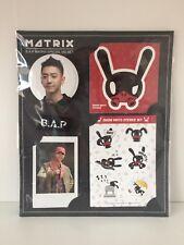 Yongguk B.A.P Matrix Album MD Set (Photocard + Stickers + Pin Badge) BAP Ver. A