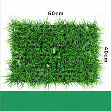 Artificial Plant Foliage Hedge Grass Mat Greenery Panel Decor Wall Fence 60x40cm