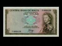 Malta:P-29,1 Pound,1967 (1969) * Queen Elizabeth II * UNC *