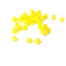 100pcs SMA Dust cap protective cover 6mm yellow color for SMA female connector