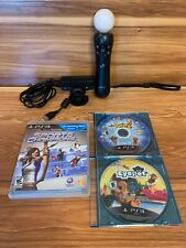 Sony PlayStation PS3 Move Motion Controller, Eye Camera, 3 Games BUNDLE
