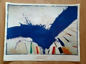 Sandra Blow 'Glad Ocean' Authentic Huge 38 x 49 Poster