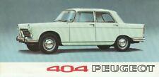 Peugeot 404 Saloon Brochure - 1967