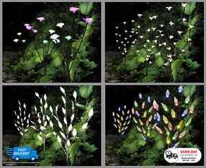 New Multi Coloured Solar Garden Stylish Blossom Branch Different Designs