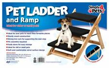 Pet Folding Wooden 2 in 1  Ramp and 3 Steps Ladder for Cat Dog