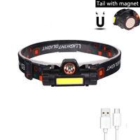 COB Work Headlight Magnet Waterproof Headlamp Build-in Battery Lantern Light