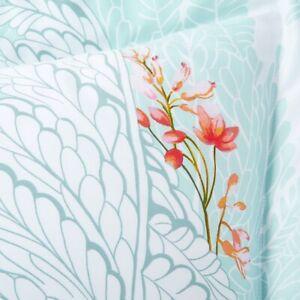 New Yves Delorme Sources 3PCS Set Queen Duvet Cover & 2 Standard Shams Aqua Blue