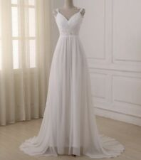 2018 New Luxury White/Ivory Wedding Dress Bridal Gown Custom Size 8 10 12 14 ++