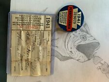 1941 Pennsylvania Resident Citizen Fishing License With Papers
