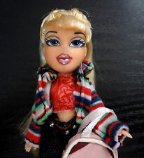 Bratz Doll Mini Blonde Braid Hair Sparkly Jeans Clothes Stripe Jacket Pink Purse