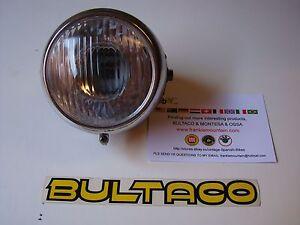BULTACO HEADLIGHT NEW FOR LOBITO HEADLIGHT BULTACO ALPINA MATADOR SHERPA TIRON