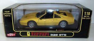 Anson 1/18 Scale - 30308w Ferrari 328GTS - Yellow