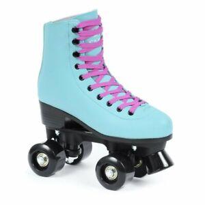 SMJ Damen klassische Rollschuhe Roller Skates Inliner Inlineskates Retro Quad