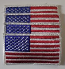 Patches USA United State Of America FLAG Patches Set of 4