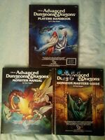 Dungeons and Dragons 1st edition Core Rulebooks 2nd covers Very Good Condition