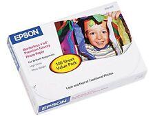 "Epson S041727 Premium Photo Paper 4"" x 6"" - High Gloss - 92 Brightness - 100 / P"