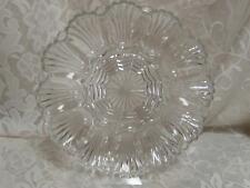"""Elegant Vintage Cut Glass Clear Deviled Easter Egg oyster Plate 10"""""""