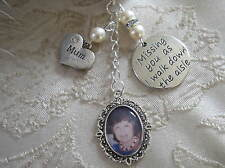 Vintage Inspired Ivory Mum Memorial Bouquet Photo Charm Wedding/Bridal