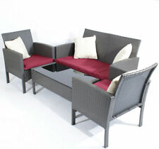Rattan Conservatory Table & Chair Sets with 4 Pieces