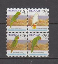 Philippine Stamps 2008 Parrots P26x4 (B/4 )dated 2008 Mint Never Hinged.