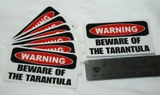 "25 Warning ""Beware of the Tarantula"" Decals Stickers Insects Bugs Spider Pets"