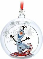 Disney Store Olaf Glass Globe Sketchbook Ornament – Frozen 2 - New With Tag