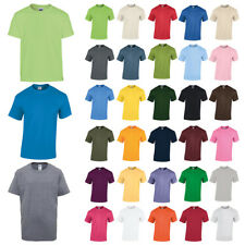 Gildan Childrens Kids Heavy Cotton Crew Neck T Shirt in 31 Colours XS - XL Gold Large